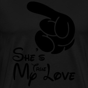 She's my true love Hoodies - Men's Premium T-Shirt