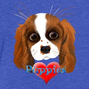 Puppy Love - Fitted Cotton/Poly T-Shirt by Next Level