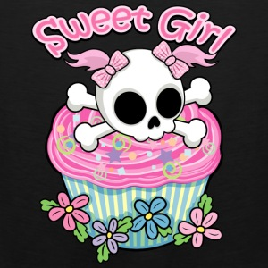 Sweet Girl Skull Long Sleeve Shirts - Men's Premium Tank