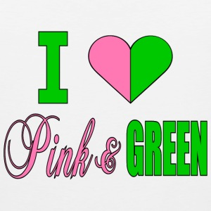 I Heart Pink And Green--DIGITAL DIRECT Hoodies - Men's Premium Tank