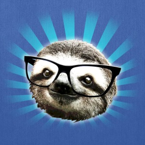 Cute! Hipster Sloth - Tote Bag