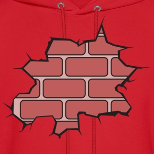 Broken Brick Wall Women's T-Shirts - Men's Hoodie