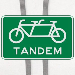 tandem_bicycle_sign Women's T-Shirts - Contrast Hoodie