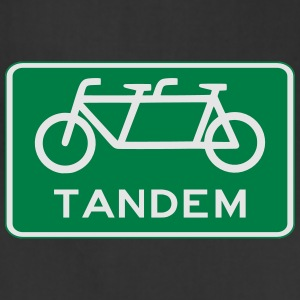 tandem_bicycle_sign T-Shirts - Adjustable Apron