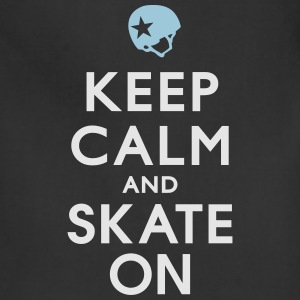 Keep Calm and Skate on - Roller Derby - Jammer Women's T-Shirts - Adjustable Apron