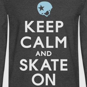 Keep Calm and Skate on - Roller Derby - Jammer Women's T-Shirts - Men's Long Sleeve T-Shirt