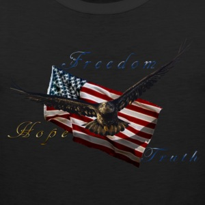 American Pride Bald Eagle & Flag Hoodies - Men's Premium Tank