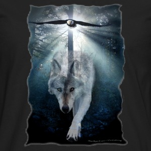Wolf & Eagle (The Gathering) - Men's Premium Long Sleeve T-Shirt