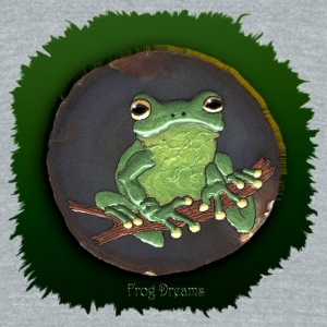 Frog Dreams Green Tree Frog - Unisex Tri-Blend T-Shirt by American Apparel