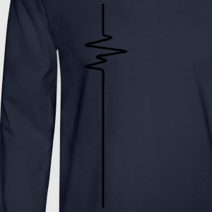 FREQUENCE (vertical) - FREQUENCY - BEAT - BASS - Men's Long Sleeve T-Shirt