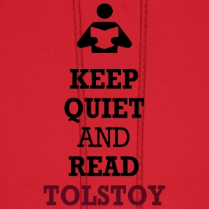 Keep Quiet and Read Tolstoy T-Shirts - Men's Hoodie