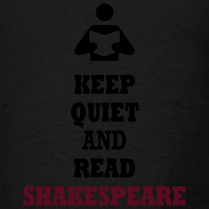 Keep Quiet and Read Shakespeare Bags  - Men's T-Shirt