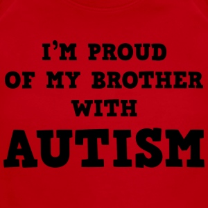 I'm Proud Of My Brother With Autism - Short Sleeve Baby Bodysuit
