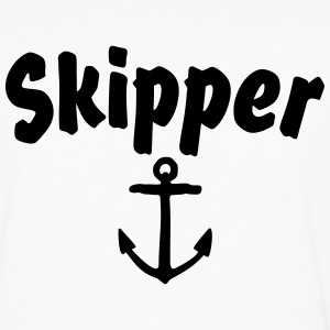 Skipper T-Shirt (White/Back) - Men's Premium Long Sleeve T-Shirt