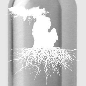 Michigan Roots Down with Detroit T-Shirts - Water Bottle