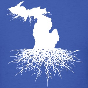 Michigan Roots Down with Detroit Long Sleeve Shirts - Men's T-Shirt