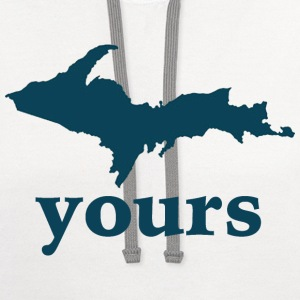 Up Yours Down with Detroit T-Shirts - Contrast Hoodie