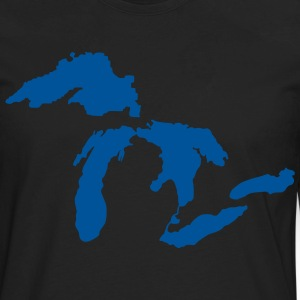 Michigan Down with Detroit T-Shirts - Men's Premium Long Sleeve T-Shirt