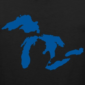 Michigan Down with Detroit T-Shirts - Men's Premium Tank