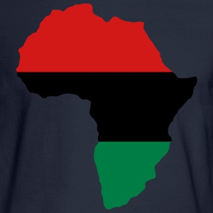 Red, Black & Green Africa Flag Hoodies - Men's Long Sleeve T-Shirt