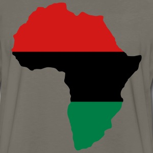 Red, Black & Green Africa Flag T-Shirts - Men's Premium Long Sleeve T-Shirt