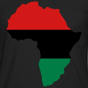 Green, Gold (Yellow) & Red Africa Flag T-Shirts - Men's Premium Long Sleeve T-Shirt