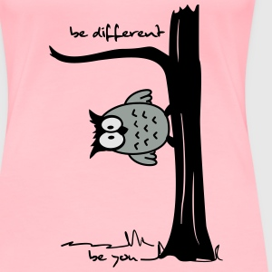 Owl on tree - be different, be you Sweatshirts - Women's Premium T-Shirt