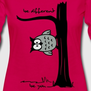 Owl on tree - be different, be you Tanks - Women's Premium Long Sleeve T-Shirt