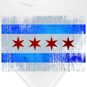 Chicago Flag Faded Chicago Hoody Women's T-Shirts - Bandana