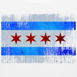 Chicago Flag Faded Chicago Hoody Women's T-Shirts - Men's Premium Tank