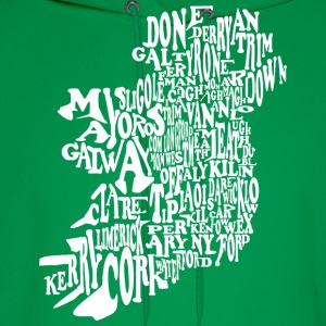 County Word Map Irish Celtic Apparel T-Shirts - Men's Hoodie