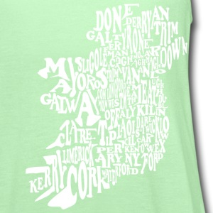 County Word Map Irish Celtic Apparel T-Shirts - Women's Flowy Tank Top by Bella