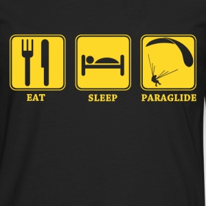 eat sleep paraglide - Men's Premium Long Sleeve T-Shirt