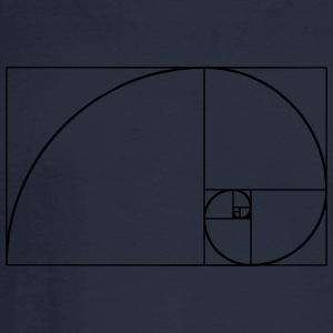 Golden Spiral, Golden Ratio, Phi, Fibonacci T-Shirts - Men's Long Sleeve T-Shirt