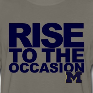 Soft Michigan Rise to the Occasion Shirt - Men's Premium Long Sleeve T-Shirt