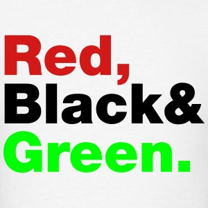 Red, Black & Green. Hoodies - Men's T-Shirt