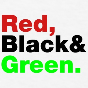 Red, Black & Green. Caps - Men's T-Shirt