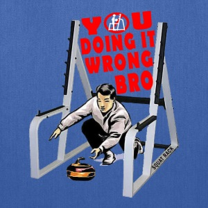 Curling In The Squat Rack. White T-Shirts - Tote Bag