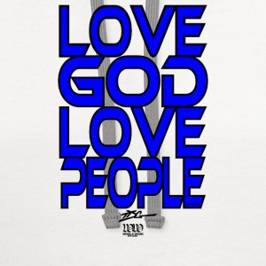 Love God Love People T-Shirts - Contrast Hoodie