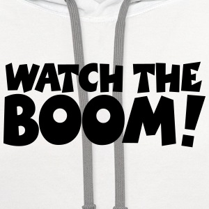 WATCH THE BOOM Sailing T-Shirt - Contrast Hoodie