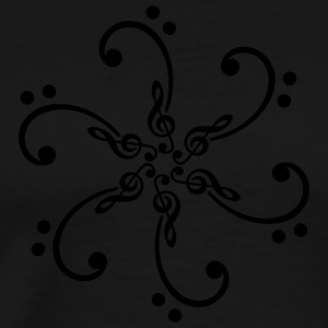 Bass & treble clef - glow in the dark! Hoodies - Men's Premium T-Shirt