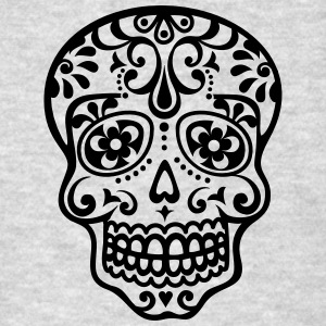 Mexican skull, floral pattern - Days of the Dead Hoodies - Men's T-Shirt