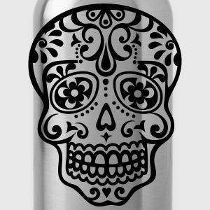 Mexican skull, floral pattern - Days of the Dead Hoodies - Water Bottle