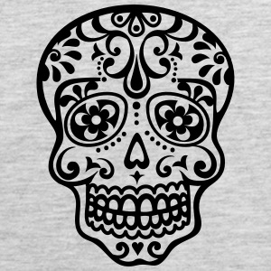 Mexican skull, floral pattern - Days of the Dead Hoodies - Men's Premium Tank