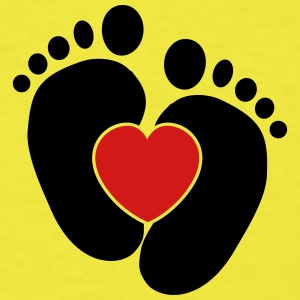 Baby heart feet Baby & Toddler Shirts - Men's T-Shirt