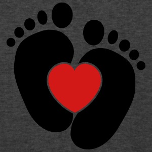 Baby heart feet Tanks - Men's V-Neck T-Shirt by Canvas