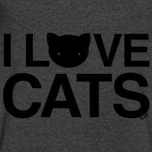 love cats Cat Versus Humans mp Long Sleeve Shirts - Men's V-Neck T-Shirt by Canvas