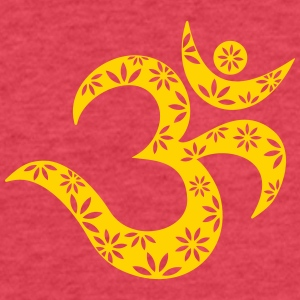 OM Mantra symbol, flowers, patterns, Aum, Buddhism Tanks - Fitted Cotton/Poly T-Shirt by Next Level