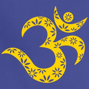OM Mantra symbol, flowers, patterns, Aum, Buddhism Hoodies - Adjustable Apron