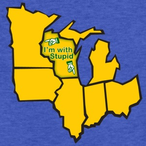 Im With Stupid Milwaukee Mart Sweatshirts - Fitted Cotton/Poly T-Shirt by Next Level